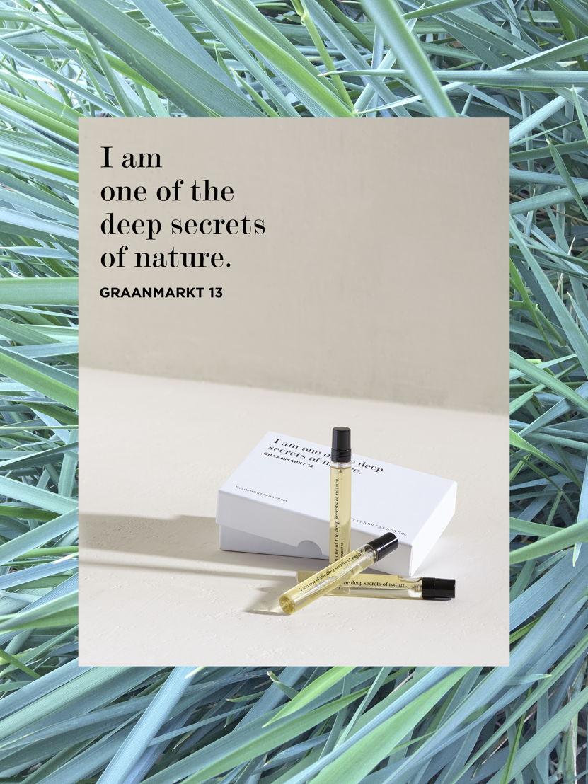 Graanmarkt 13 - Travelset Parfum - 60 euro  © Frederik Vercruysse