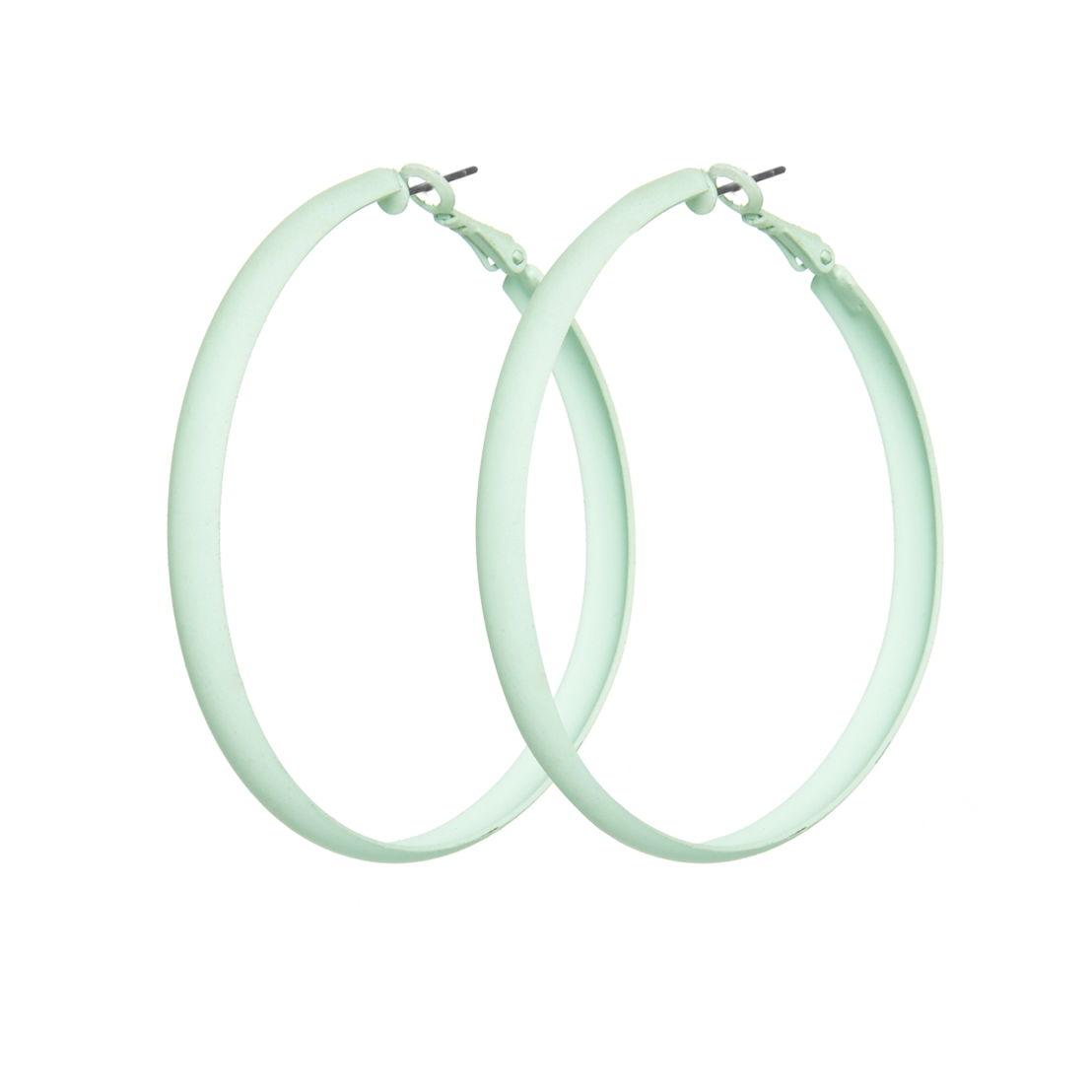 Primark - Matte Mint Hoop Earrings - 2€
