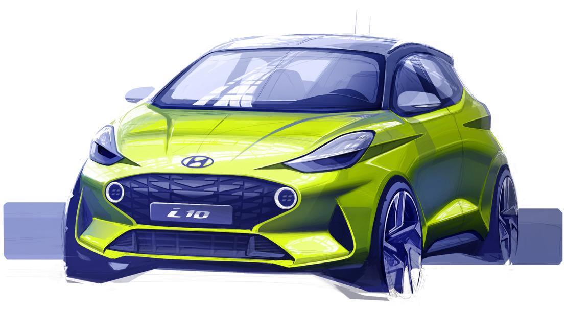Hyundai veröffentlicht erste Designskizze des neuen i10