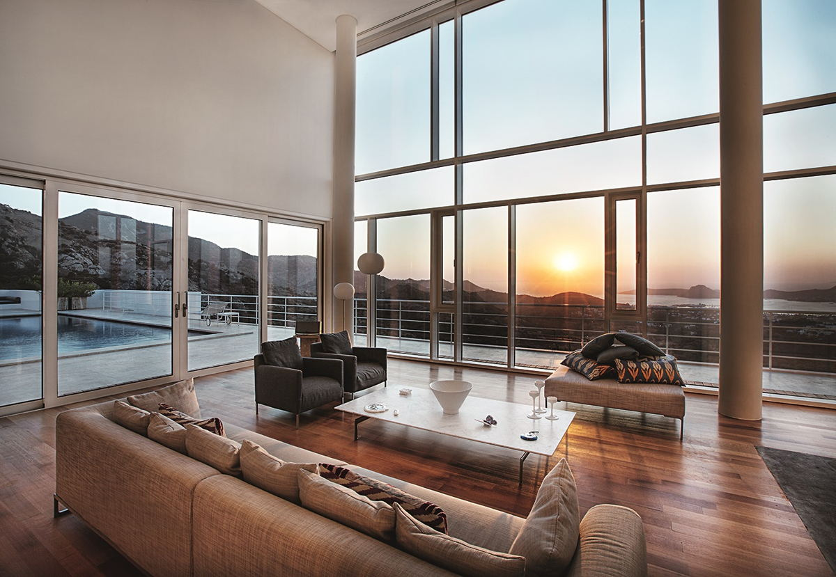 Panoramic window design by Schuco