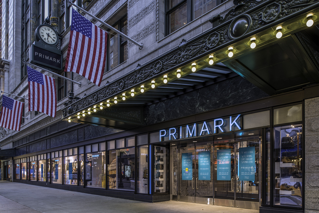 PRIMARK OPENT EERSTE WINKEL IN NOORD-OOST AMERIKA IN BOSTON