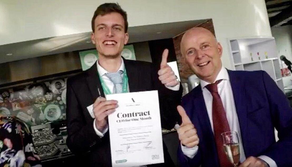 Mattias Losoli en Nico Reeskens, Country Manager The Adecco Group Belgium