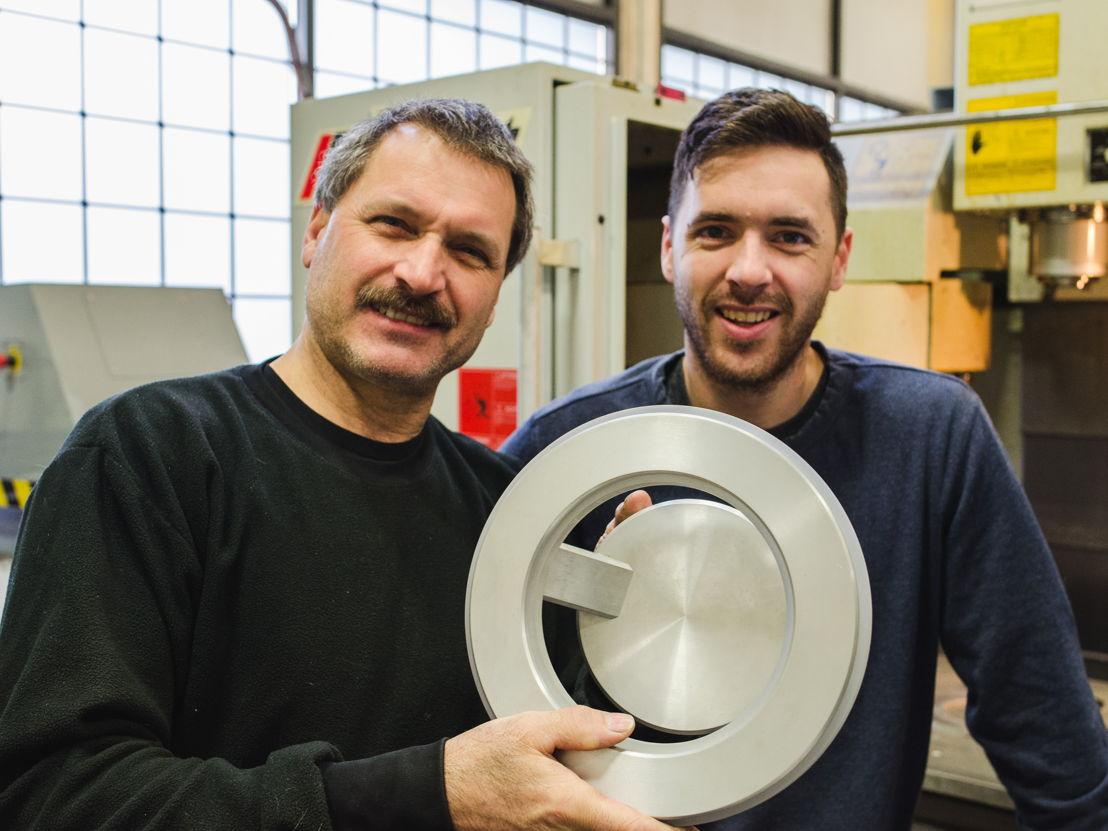 Karice's design team Maurice and Jordan with the award-winning Electron