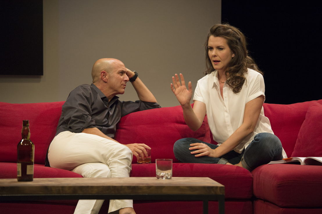 Brian Markinson and Celine Stubel in Speed-the-Plow / Photos by David Cooper