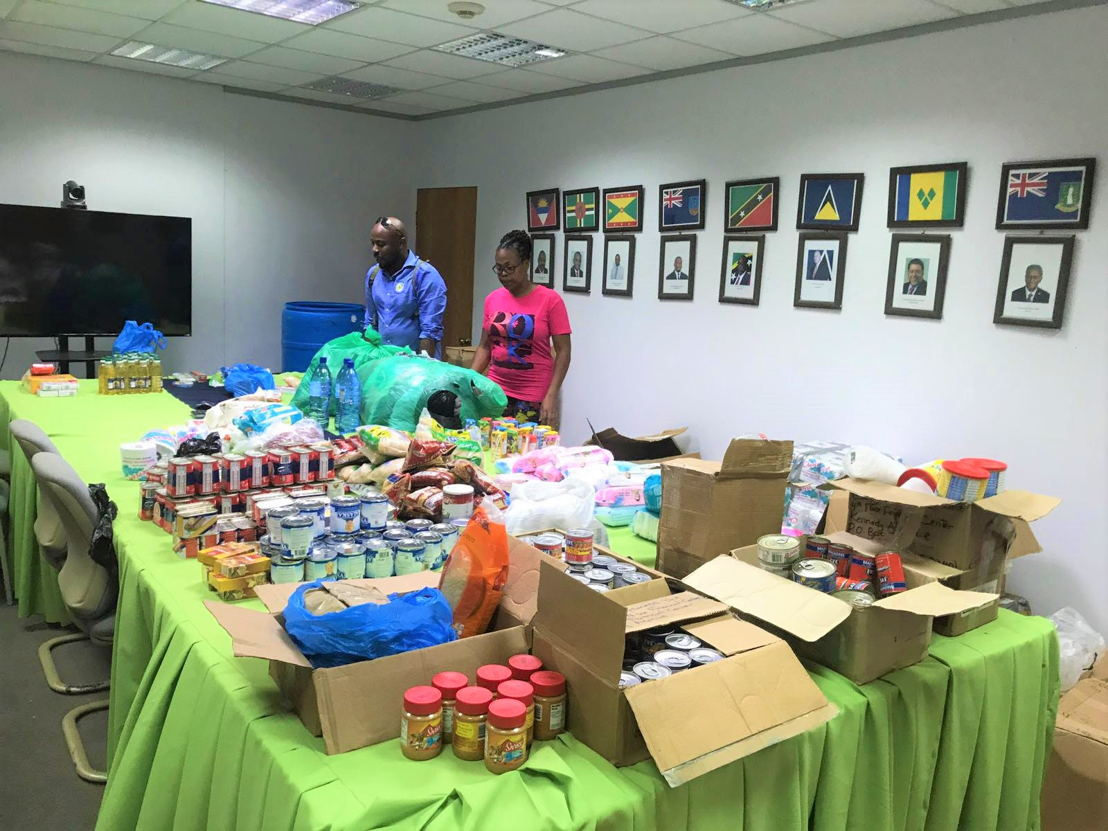 Relief items received from the Grenada Industrial Development Corporation (GIDC).