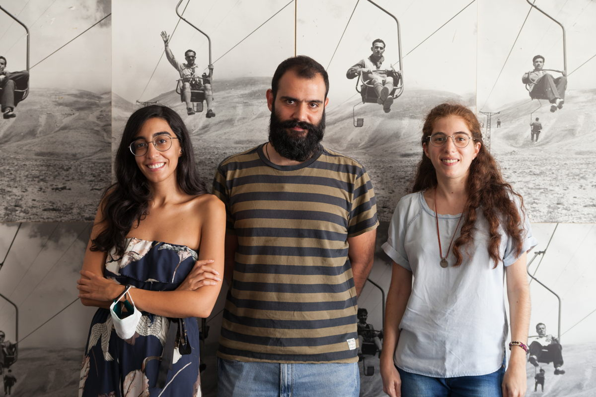 From left to right: Blanche Eid, Asadour Garvanian, and Rhéa Dagher. Photo: Christopher Baaklini.