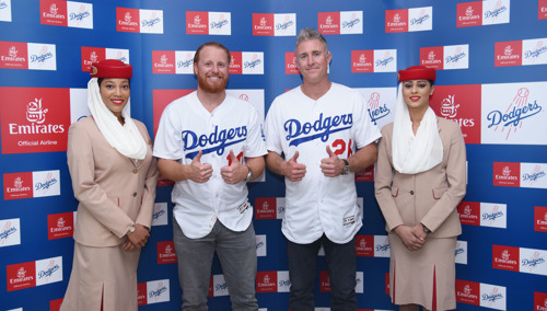 Nurturing small gloves with big dreams: Emirates brings Los Angeles Dodgers all-star players to Dubai