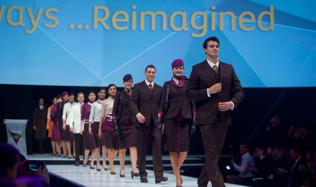 Etihad Airways toonde de nieuwe uniformen tijdens een modeshow.
