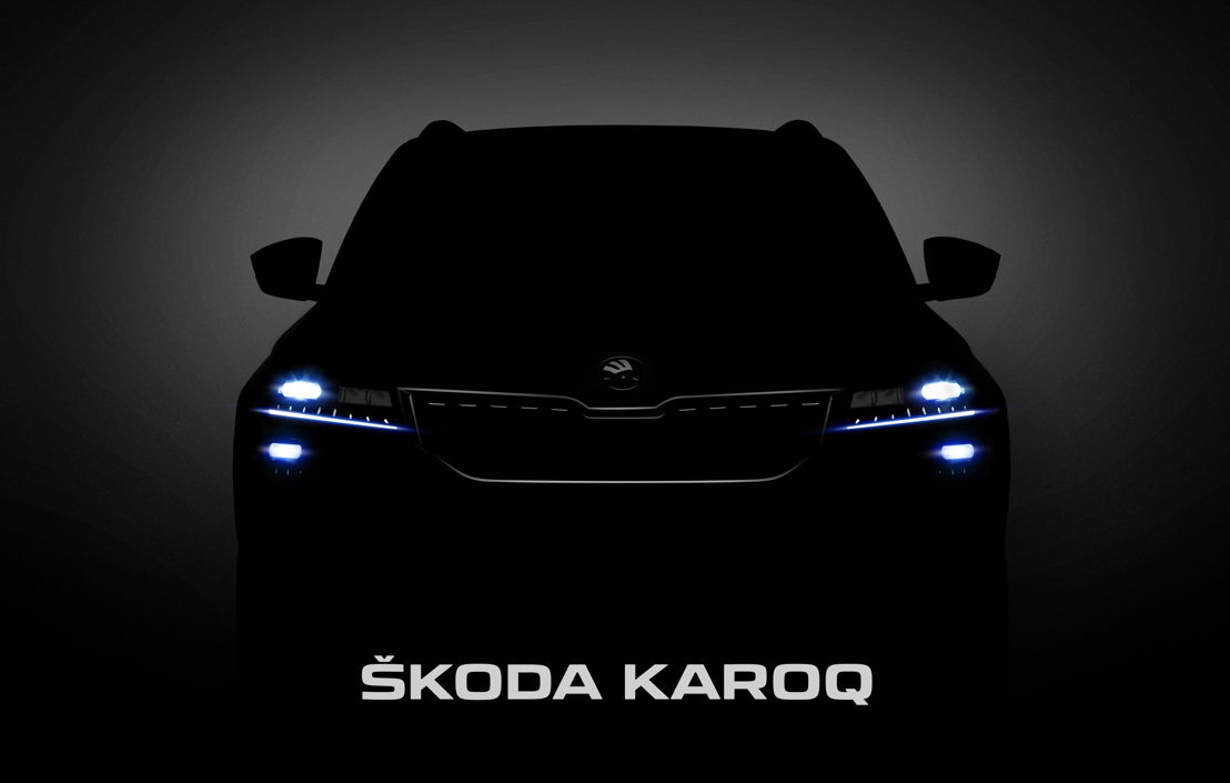 Shortly before its world premiere, the Czech car manufacturer provides a first look at the new compact SUV ŠKODA KAROQ.
