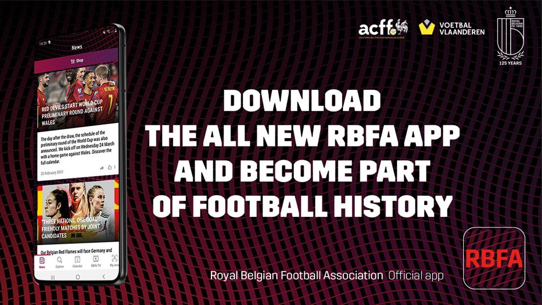 L'Union belge de football lance une toute nouvelle app : RBFA