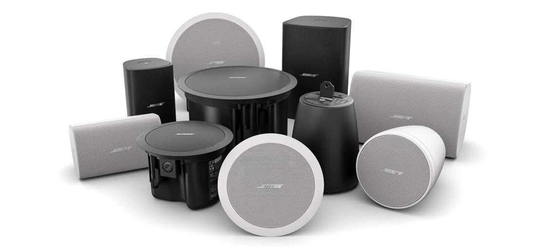 Nuevas opciones de altavoces FreeSpace de Bose Profesional