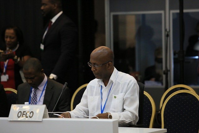 Ambassador Anthony Severin, Head of International Relations, representing the OECS Commission.
