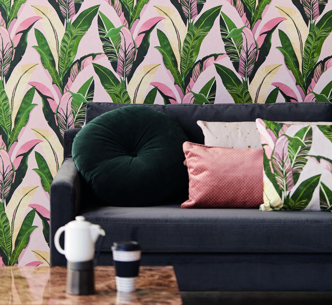 La marque de papier peint Eijffinger décore les murs avec Vivid