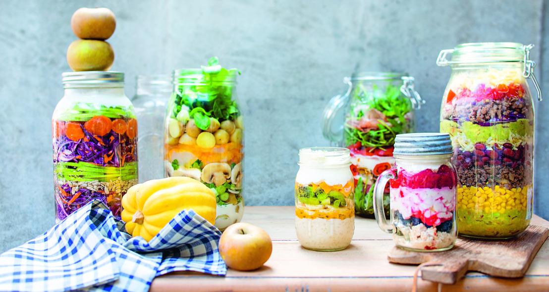 'Salades in a jar': dé culinaire hype van het voorjaar