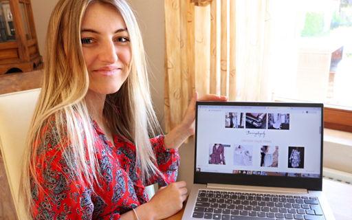 Lieze Mertens (20) opende net voor de coronacrisis haar webboetiek met steun van ICE Cube