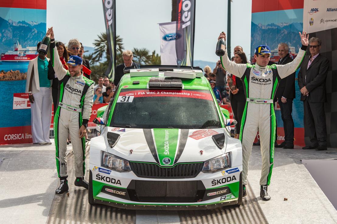 Jan Kopecký and ŠKODA with dominant WRC 2 win at Rally France/Tour de Corse