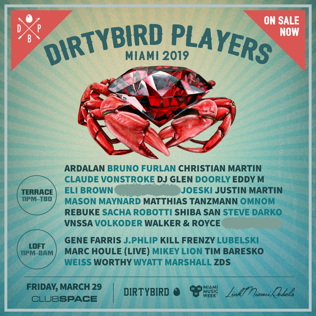 DIRTYBIRD Players Announced for Miami Takeover