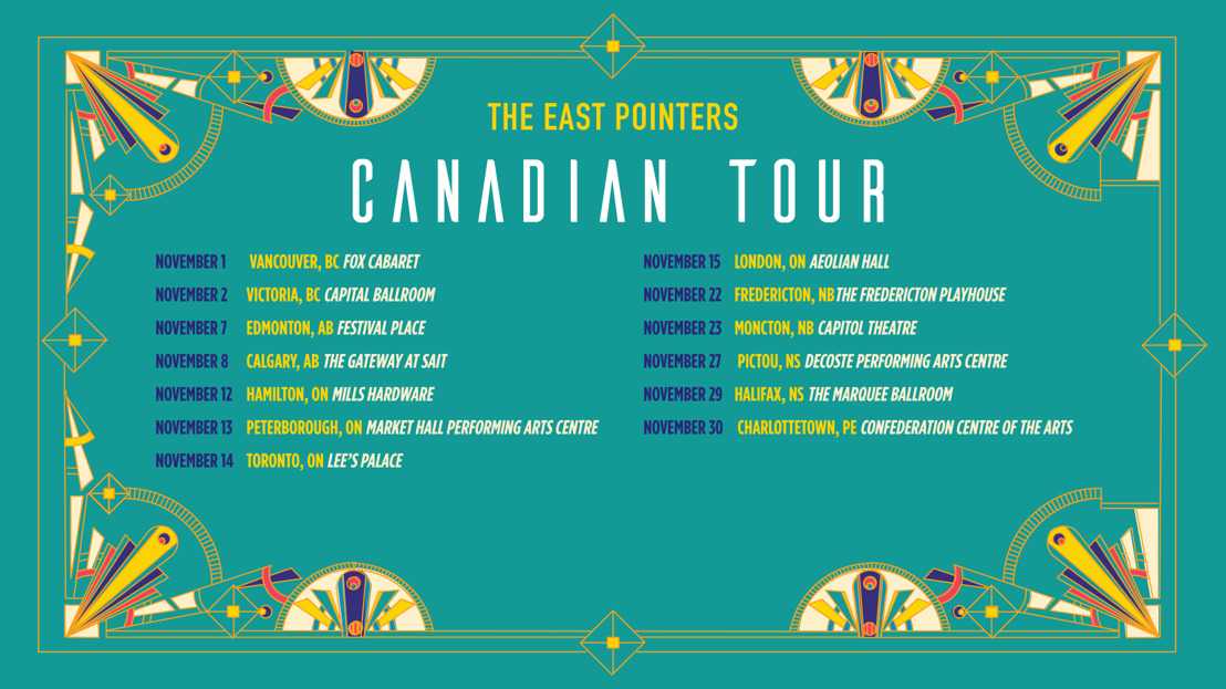 JUNO Award Winners The East Pointers Announce 2019 Canadian Tour