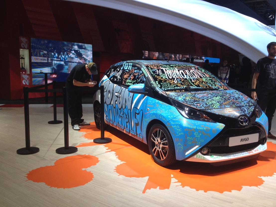 Kunstzinnige AYGO op het autosalon van Parijs 2014