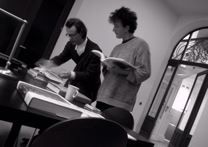 Joannes en Pieter in de beginjaren. Fotografie: Namahn. Kristel Van Ael & Joannes Vandermeulen, Namahn - Henry van de Velde Lifetime Achievement Award 16