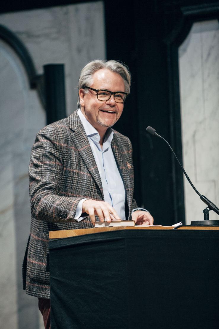 Voorstelling evenementen kunstensector 'Antwerp Baroque 2018. Rubens Inspires'. Philip Heylen, voorzitter AMUZ. foto Joris Casaer