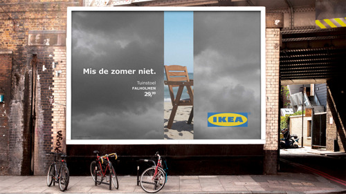 DDB speelt in op wisselvallig weer voor IKEA