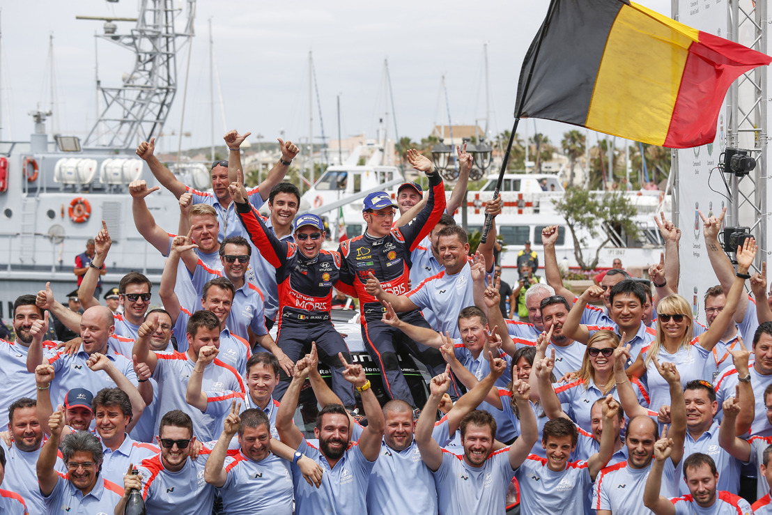 (Comunicato disponibile solo in inglese) Hyundai Motorsport scores victory as Neuville shoots the winner in Sardinia