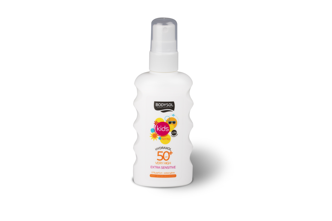 Bodysol Sunspray Kids SPF 50+. Prijs: € 15,99