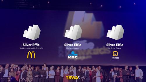 Effie Awards 2018 : TBWA remporte 3 des 4 Silver avec McDonald's, KBC et Telenet Business