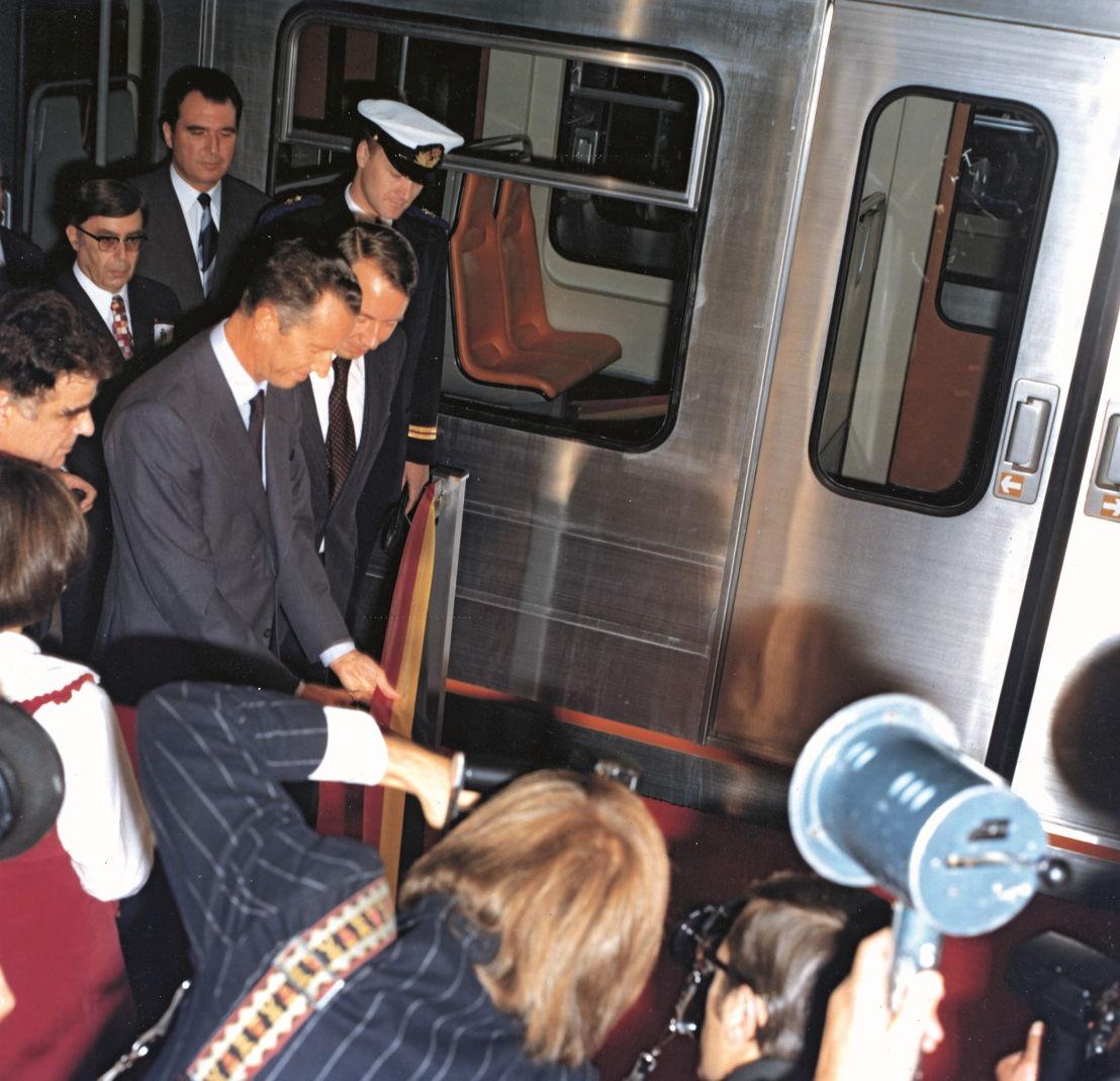 Inwijding metro op 20 september 1976 door Koning Boudewijn