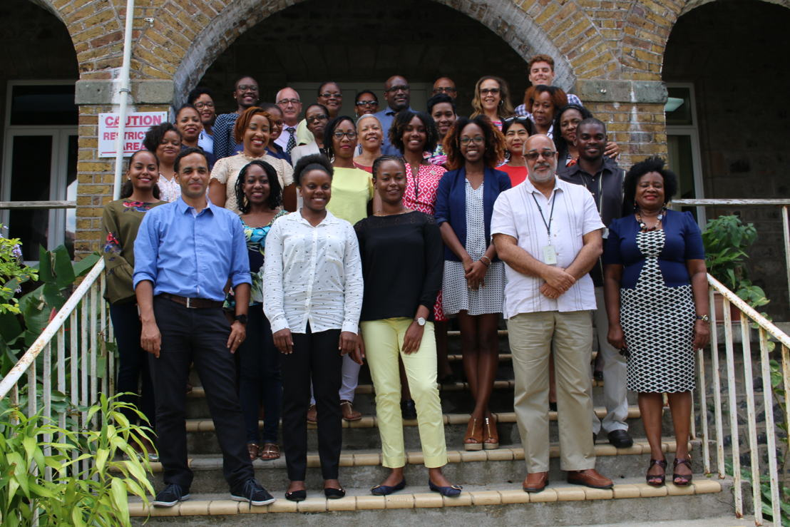Delegation of the Superior School of Teaching and Education of Martinique (ESPE (Ecole Supérieure du Professorat et de l'Education) visiting the OECS Commission.