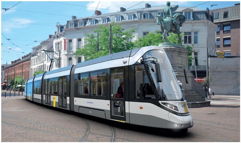 Ontwerp CAF-tram voor  Antwerpen.