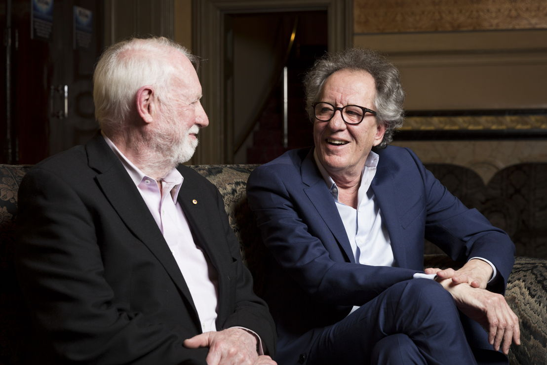 David with Geoffrey Rush