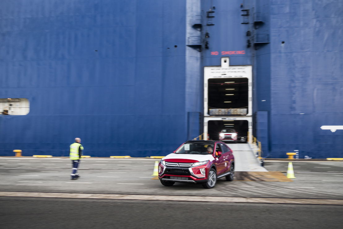 Eclipse Cross Arrival in the Port