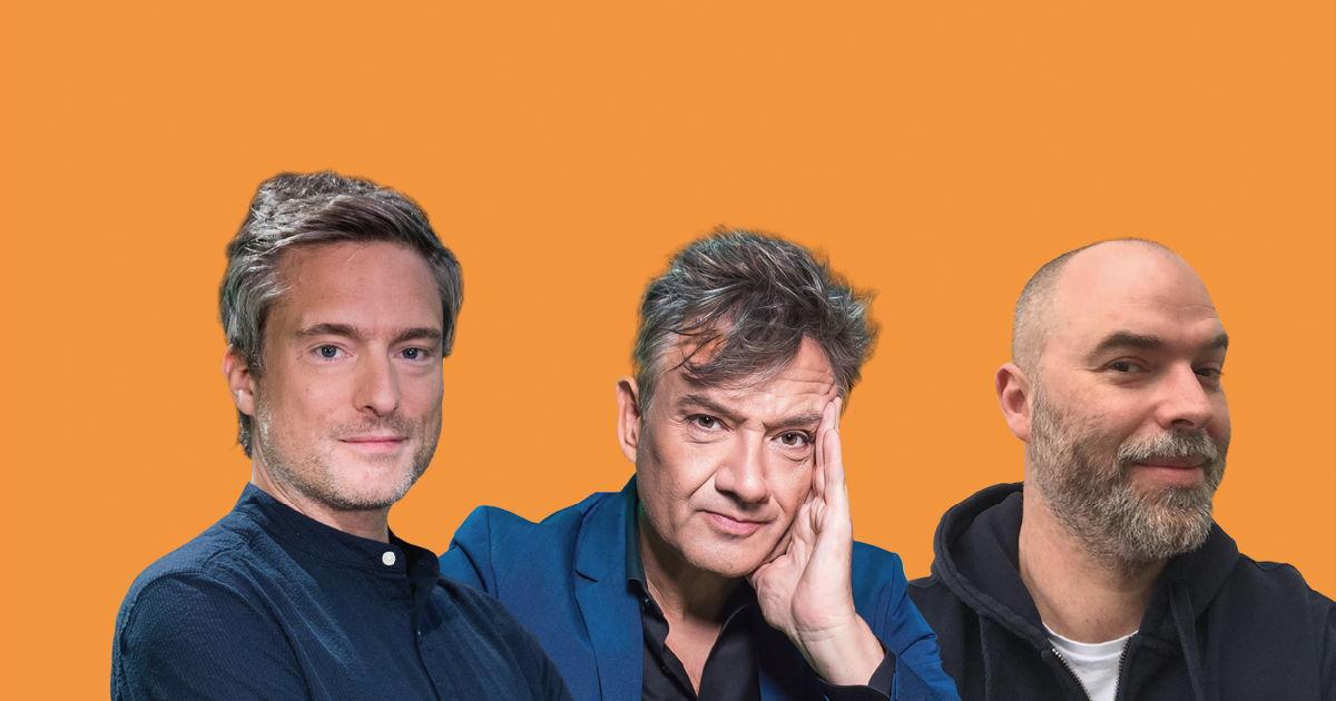 Gilles De Coster, Bart Peeters en Tomas De Soete © Radio 2