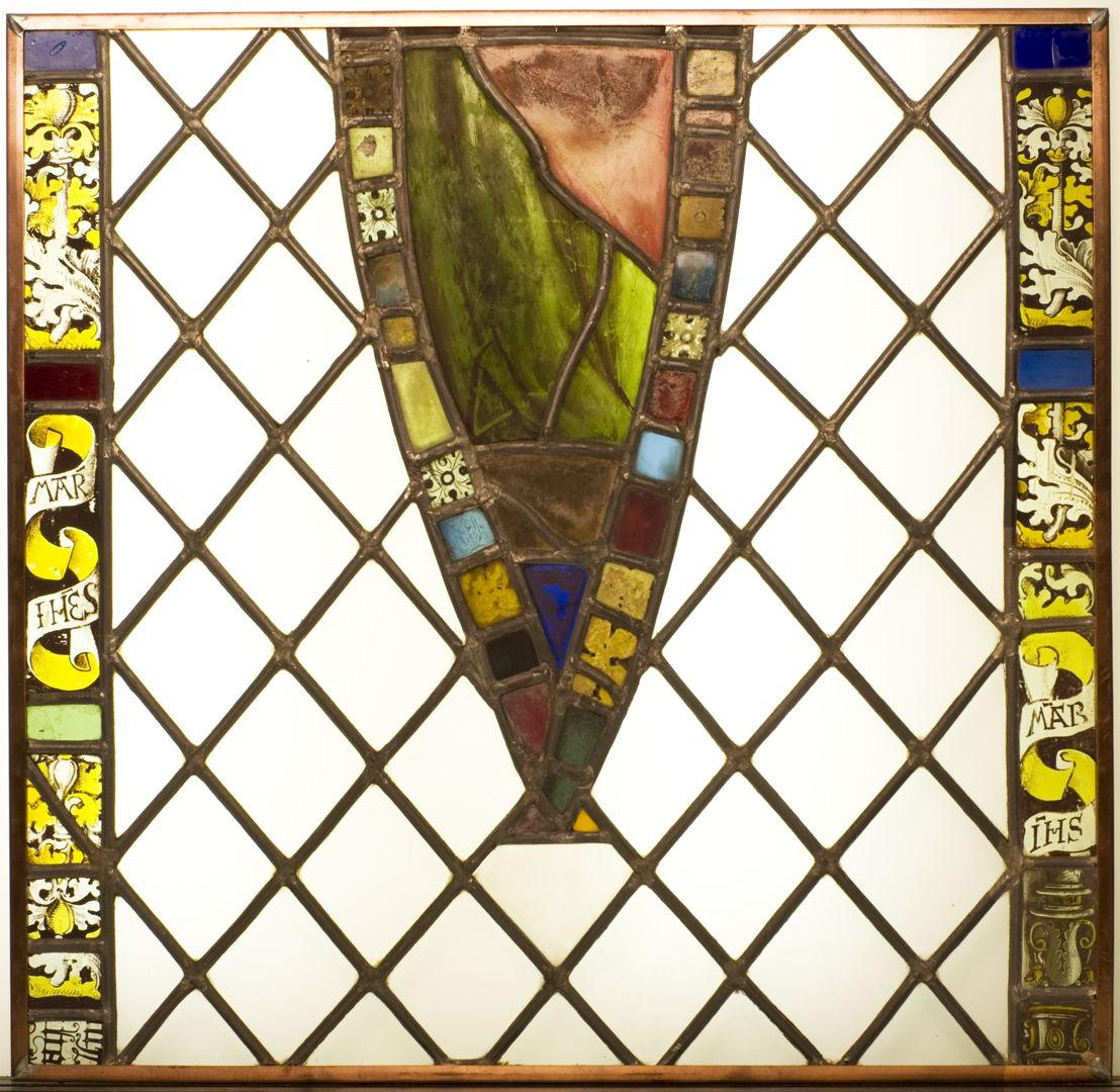 1.Onbekend, Maria met kind, Leuven, tweede helft 14de eeuw, gebrandschilderd glas-in-lood, 118 x 70 cm, M - Museum Leuven, inv. B/III/1<br/>© M - Museum Leuven, foto Paul Laes [2/2]