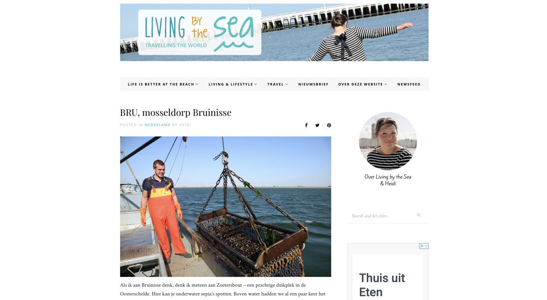 Vlaamse blog Living By The Sea over het Mosseldorp