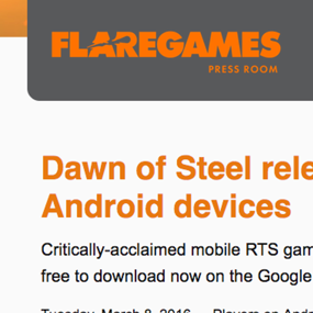 Dawn of Steel releases globally for Android devices