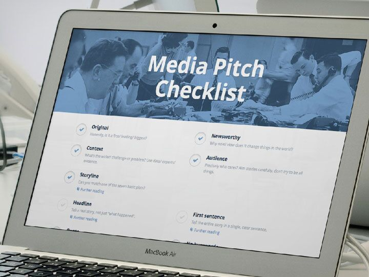 Media pitch checklist