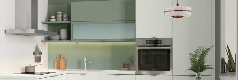 Wandpaneel gekleurd glas -Crédence en verre coloré ©èggo