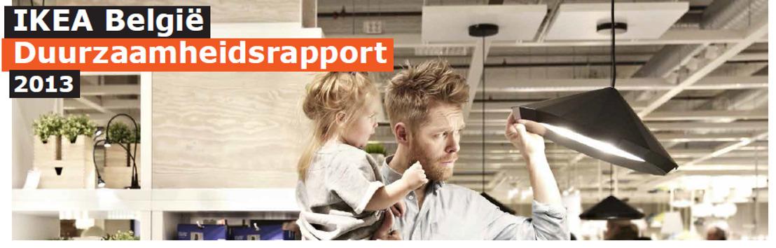 IKEA België brengt Duurzaamheidsrapport 2013 uit