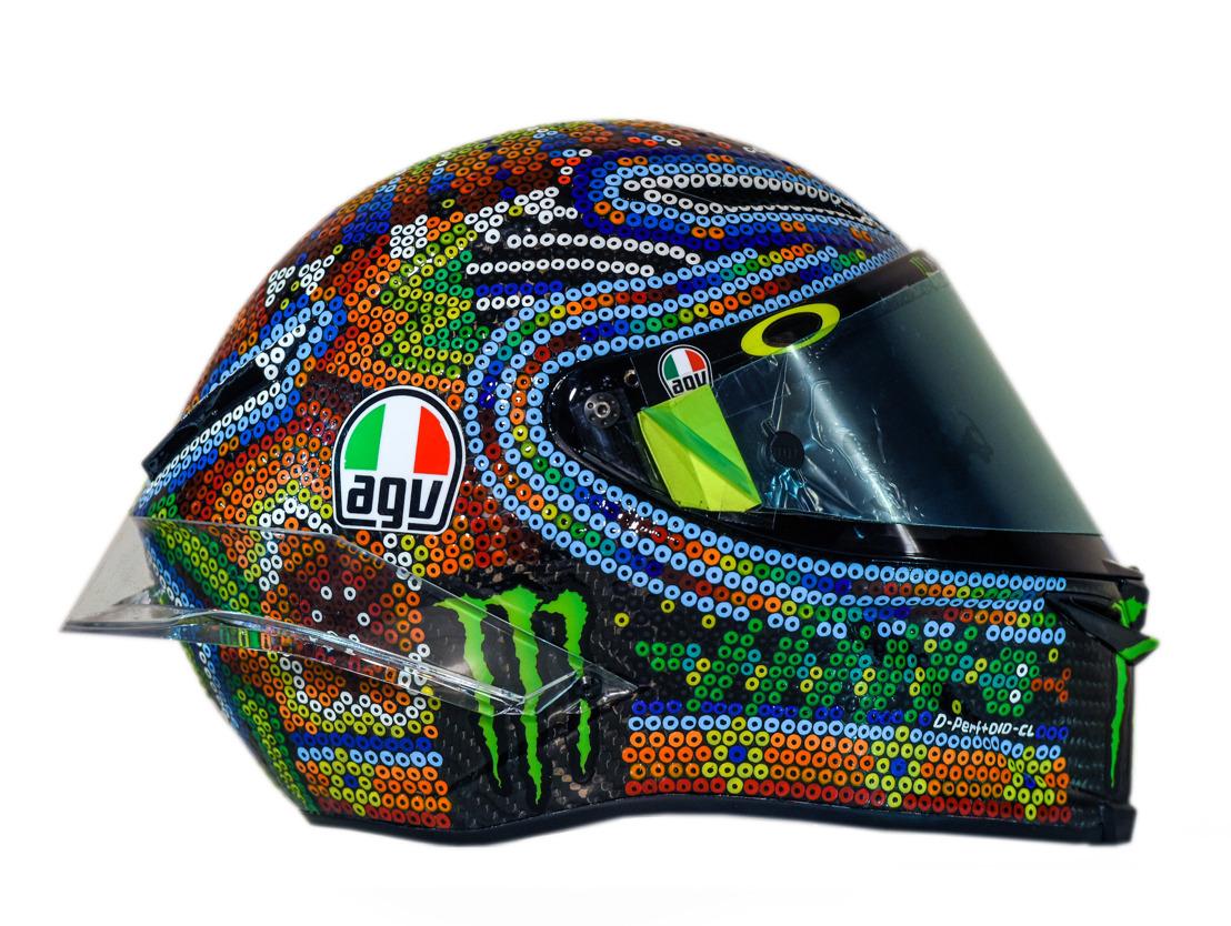 Introducing Valentino Rossi's New Custom AGV Helmet