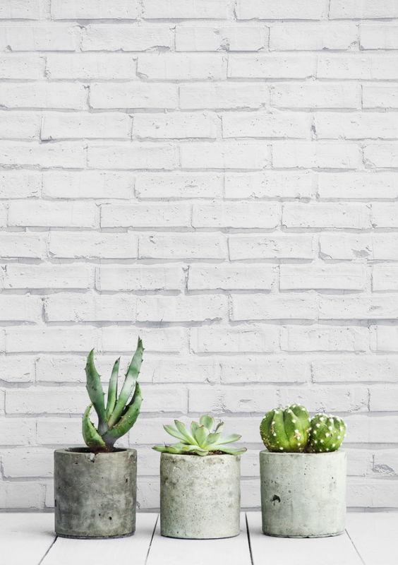 Clean White Brick Wallpaper