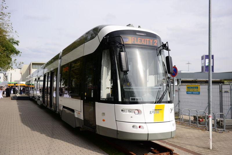 Buitenkant van de nieuwe Flexity 2-tram<br/>Credit: Bombardier