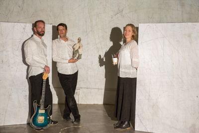 Arnaud van Vliet, <br/>Yoann Pencolé and Naomi van Niekerk in Alchemy of Words credit Dee-Ann Kaaijk