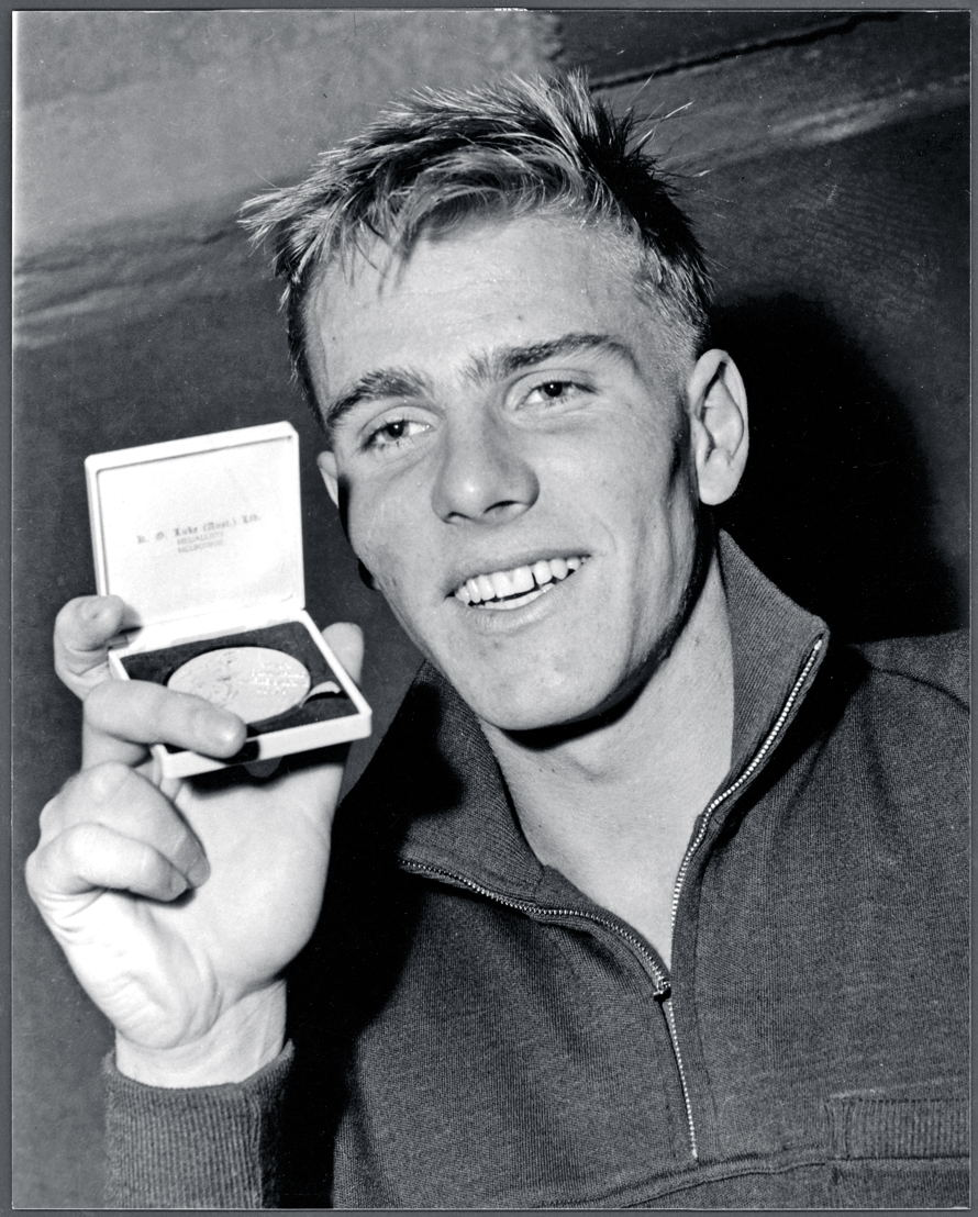 Murray Rose with Gold medal