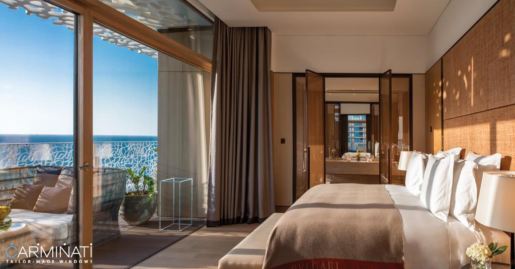 The Bvlgari Hotel & Resort in Dubai featuring Carminati Serramenti