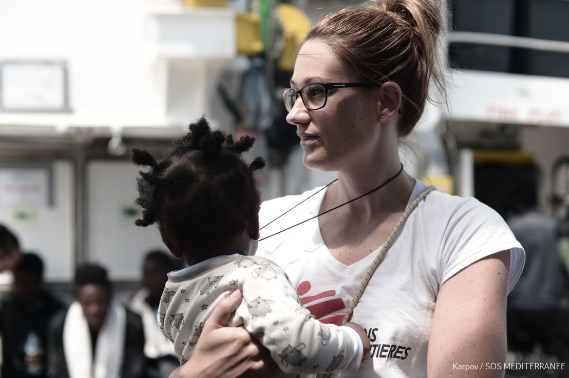 MSF is only doing search and rescue in Mediterranean because EU states are not doing it and people are needlessly drowning. Not only do people in distress at sea need to be rescued, they need to be treated with compassion, dignity and respect. We try to do that on Aquarius.<br/><br/>Many refugee and migrants have endured alarming levels of violence and exploitation in Libya and during harrowing journeys from their home countries. Photographer: SOS MEditerranee