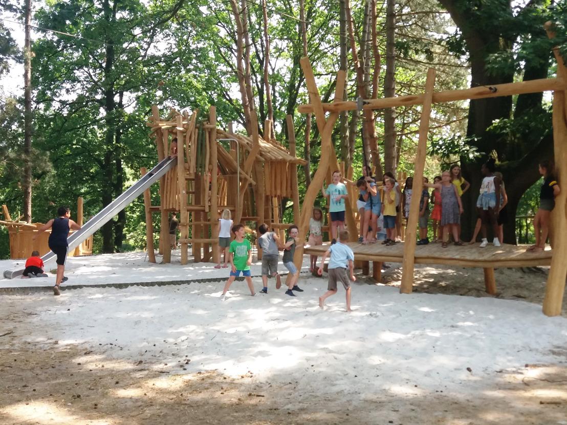Nieuwe speelzone Kazemat in provinciedomein Halve Maan open