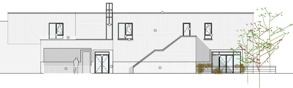 Plan nieuwbouw buurtzorghuis van de Zusters van Berlaar in Holsbeek